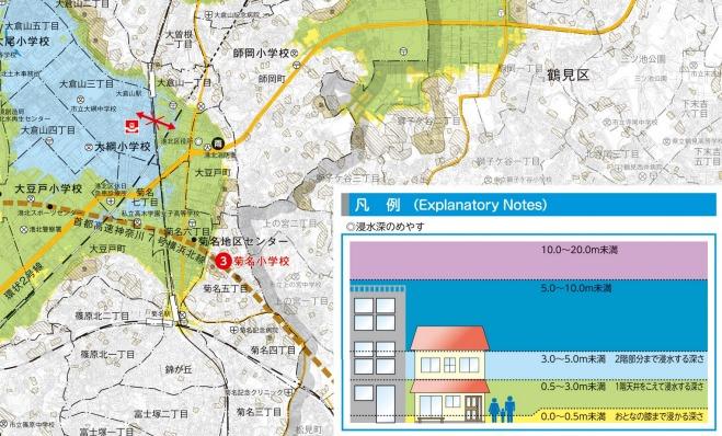 横浜市港北区洪水ハザードマップ